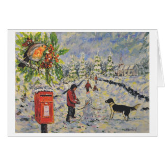Cristmas card 1 Red post box