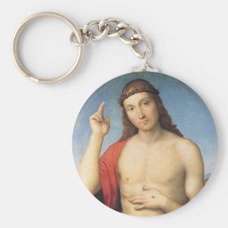 Cristo Benedicente or Christ Blessing Basic Round Button Keychain