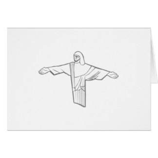 Cristo Redentor, le Christ le rédempteur Carte De Vœux