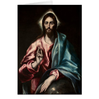 Cristo Salvator Mundi ~1600 El Greco Card
