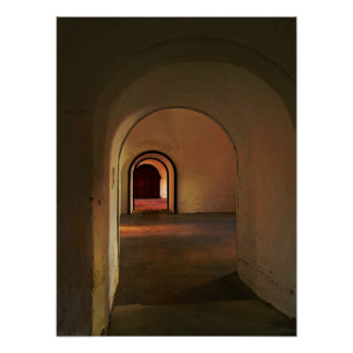 Cristobal Corridor Poster Print