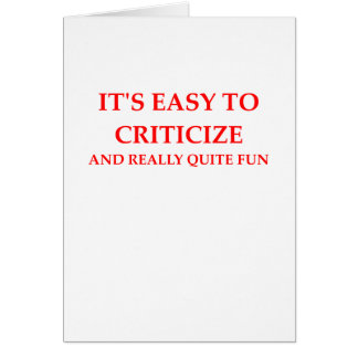 CRITIC CARD