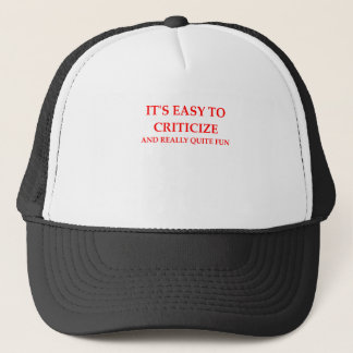 CRITIC TRUCKER HAT