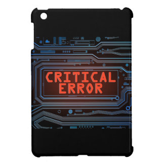 Critical error concept. iPad mini cases