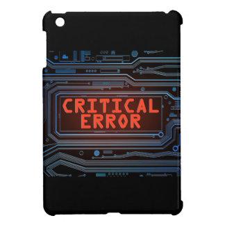 Critical error concept. iPad mini cover