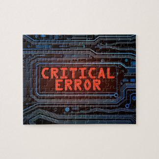 Critical error concept. jigsaw puzzle