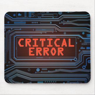 Critical error concept. mouse pad