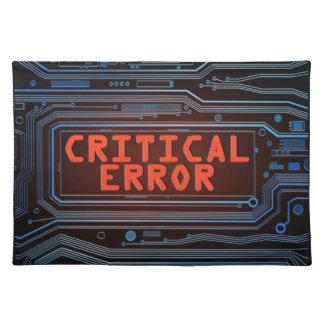 Critical error concept. placemat