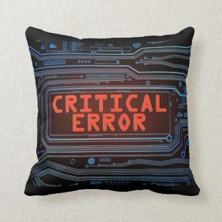 Critical error concept. throw pillow