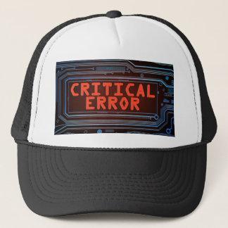Critical error concept. trucker hat