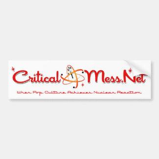 Critical Mess Bumper Sticker! Bumper Sticker