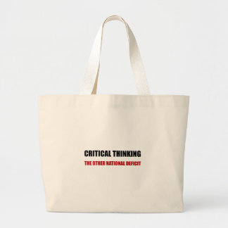 Critical Thinking National Deficit Large Tote Bag
