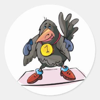 Crittly Crow Classic Round Sticker