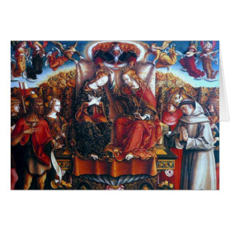 Crivelli: Coronation of Mary, Greeting Card