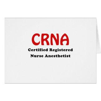 CRNA Certified Registered Nurse Anesthetist Card