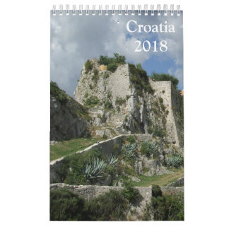 Croatia 2018 calendar