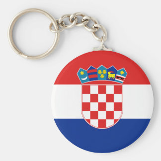 croatia basic round button keychain