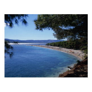 Croatia, Brac Island, Bol, Golden Cape Beach 2 Postcard