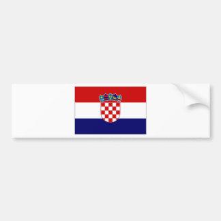 Croatia Civil Ensign Bumper Sticker
