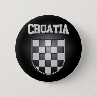 Croatia Coat of Arms 2 Inch Round Button