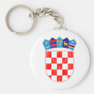Croatia Coat Of Arms Basic Round Button Keychain