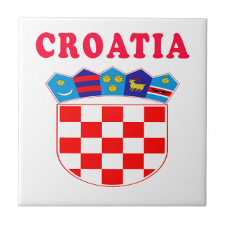 Croatia Coat Of Arms Designs Ceramic Tiles