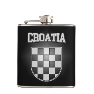 Croatia Coat of Arms Flask