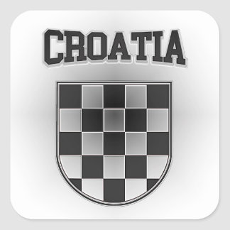 Croatia Coat of Arms Square Sticker