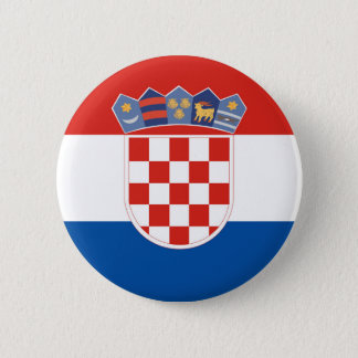 Croatia country flag symbol long 2 inch round button