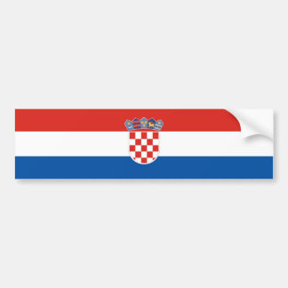Croatia country flag symbol long bumper sticker