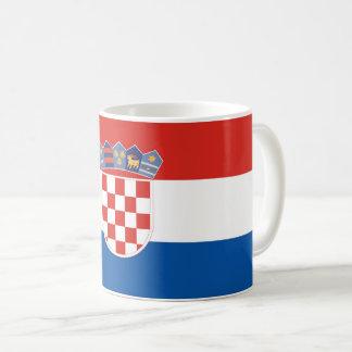 Croatia country flag symbol long coffee mug