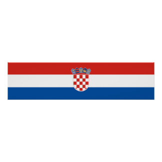 Croatia country flag symbol long poster