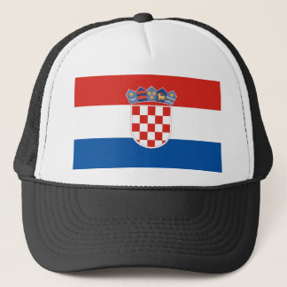 Croatia country flag symbol long trucker hat