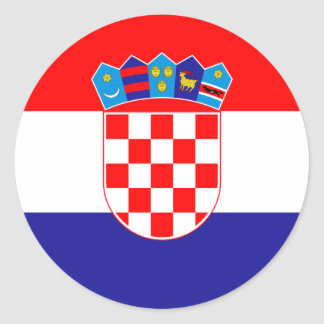 Croatia/Croatian/Croat Flag Classic Round Sticker