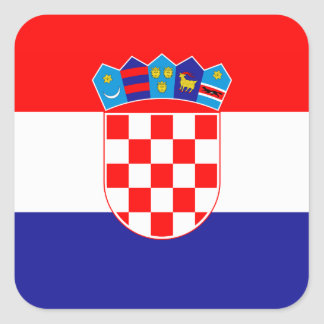 Croatia – Croatian National Flag Square Sticker
