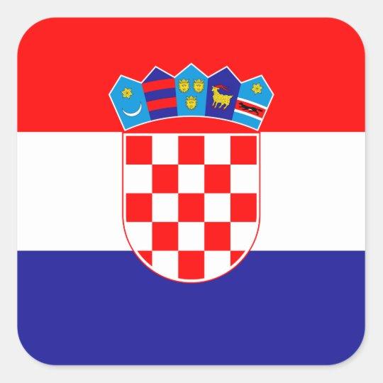 Croatia – Croatian National Flag Square Sticker