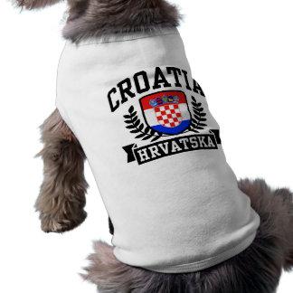 Croatia Dog Tee Shirt
