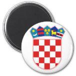 croatia emblem 2 inch round magnet