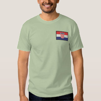 Croatia Embroidered T-Shirt
