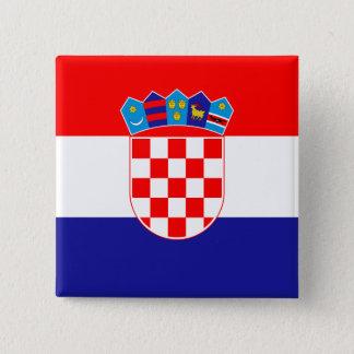 Croatia Flag 2 Inch Square Button