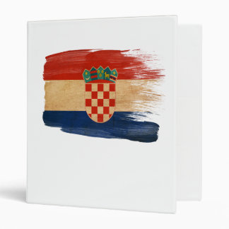 Croatia Flag 3 Ring Binder