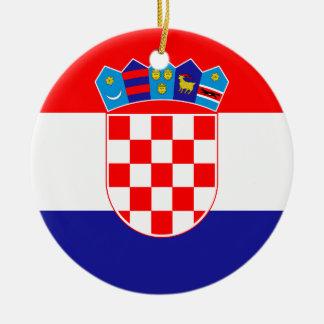 Croatia Flag Ceramic Ornament