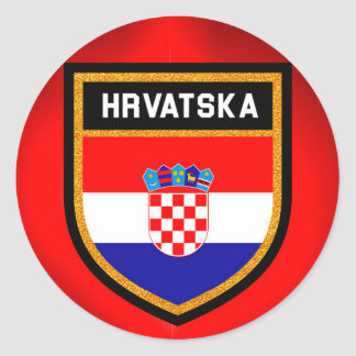 Croatia Flag Classic Round Sticker