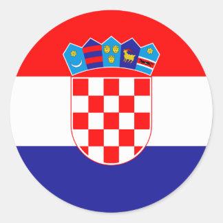 Croatia Flag Classic Round Sticker