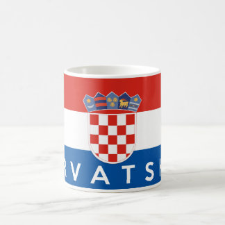 croatia flag country hrvatska text name coffee mug