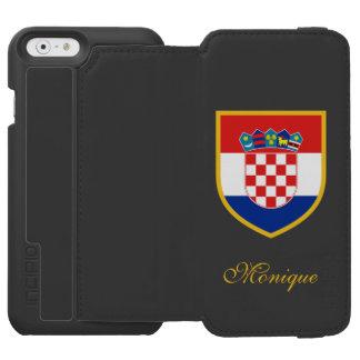 Croatia Flag Csutomized Incipio Watson™ iPhone 6 Wallet Case