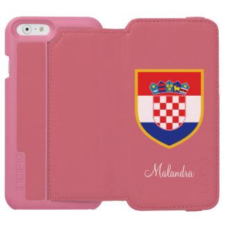 Croatia Flag Customized Incipio Watson™ iPhone 6 Wallet Case
