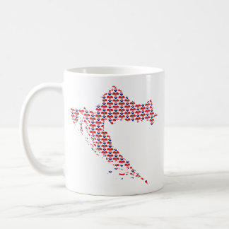 Croatia Flag-hearts Map Customizable Mug