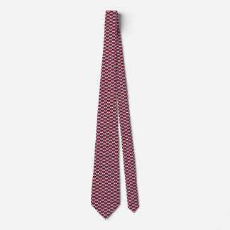 Croatia Flag Hearts Tie