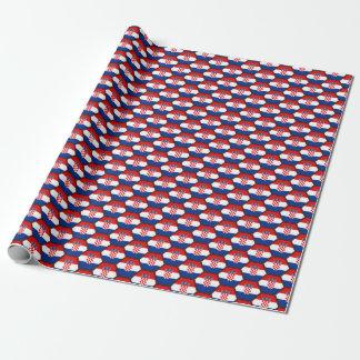 Croatia Flag Honeycomb Wrapping Paper